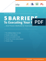 PLA 5 Barriers to Executing Your Plan