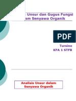 Analisis Unsur Dan Gugus Fungsi Dalam Senyawa Organik