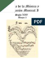 Compendio de partituras del Siglo XIV