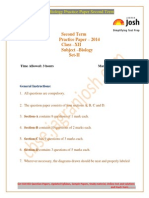 CBSE CBSE Class 12th Biology Practice Paper Second Term Set II 2014