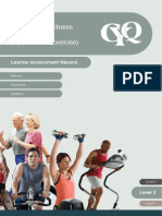 l2 Certificate in Fitness Instructing Gym Based Exercise Learner Assessment Record