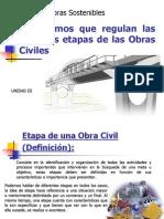 GOS III TEMA Organismos Que Regulan Las d Etapas de Las Obras Civiles