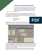 Un Ejemplo Sencillo de Programacion en Excel
