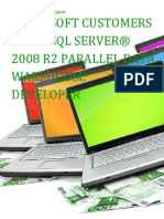Microsoft Customers using SQL Server® 2008 R2 Parallel Data Warehouse Developer - Sales Intelligence™ Report