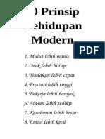 10 Prinsip Kehidupan Modern
