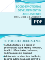 Socio-emotional Development in Adolescence