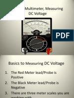 Analog Multimeter, Measuring DC Voltage