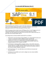 New Enhancements to Come With SAP Business One 9.1