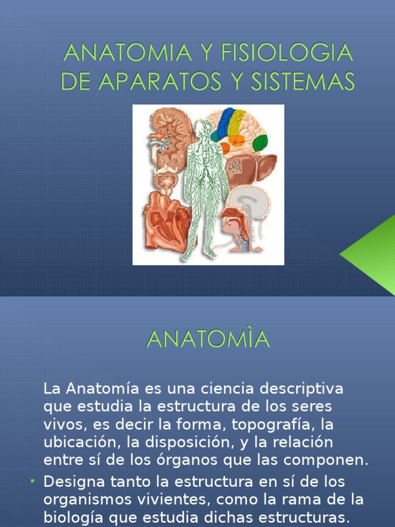 Anatomia y Fisiologia de Aparatos y Sistemas