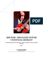 Joe Pass - Solo Jazz Guitar - Detailed Transcription (Guitar, Speech,Theory) - 18-12-2013 PRINT DRAFT