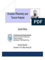 Emulsion Rheometry