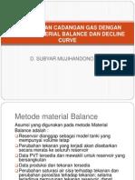 Perhitungan Cadangan Gas Dengan Metode Material Balance