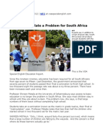 09. High Dropout Rate a Problem for South Africa