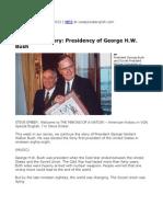 17. Presidency of George H.W. Bush