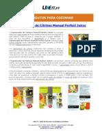 Espremedor de Citrinos Manual Perfect Juicer