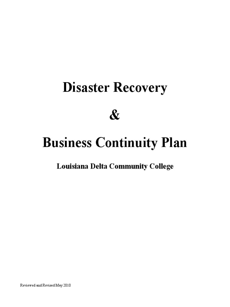 Disasterrecoveryplan2010pdf Business Continuity Disaster Recovery Whelen Edge 761 Wiring Diagram