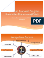 Kiat-kiat Proposal Program Kreativitas Mahasiswa (PKM)