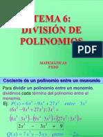 Tema 6 División Polinomios-3eso