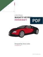 Papercraft Bugatti Veyron