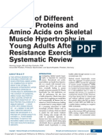 Effects of Different Dietary Proteins and Amino Acids on Skeletal Muscle Hypertrophy in Young Adults After Resistance Exercise