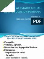 Critica Al Estado Actual de La Educacion Peruana 2014