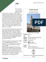 Al-Azhar University - Wikipedia, The Free Encyclopedia