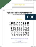 Hebrew Aleph Bet