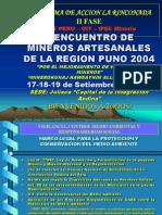 Problemática Pequeña Mineria y Mineria Artesanal