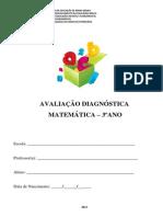 AVALIAÇÃO  DIAGNOSTICA 3º ANO  C. A - MATEMATICA - 2013 .pdf