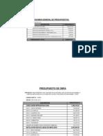 Presupuesto Analitico y Desagregados