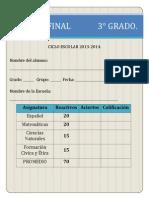 EXAMEN FINAL 3° 2013-2014