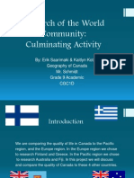 research of the world community