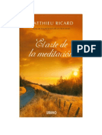 Matthieu Ricard El Arte de La Meditacion