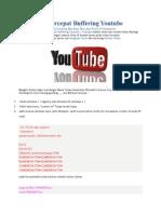 Cara Mempercepat Buffering Youtube