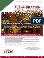 Celebrating Home November 27-30 sale