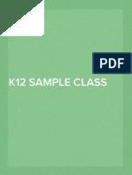 K12 Sample Class Record