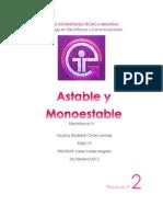 Práctica No.2 Astable y Monoestable