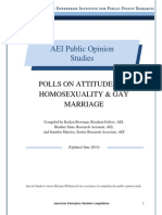 Polls on Attitudes on homosexuality and gay marriage
