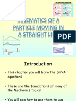 2) M1 Kinematics of a Particle Moving in a Straight Line