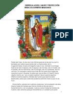 Oracion de Entrega a Dios, Salud y Proteccion Contra Los Espiritus Malignos