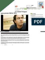 Escritor Colombiano Juan Gabriel Vásquez Gana Premio IMPAC 2014