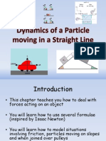 3) M1 Dynamics of a Particle Moving in a Straight Line