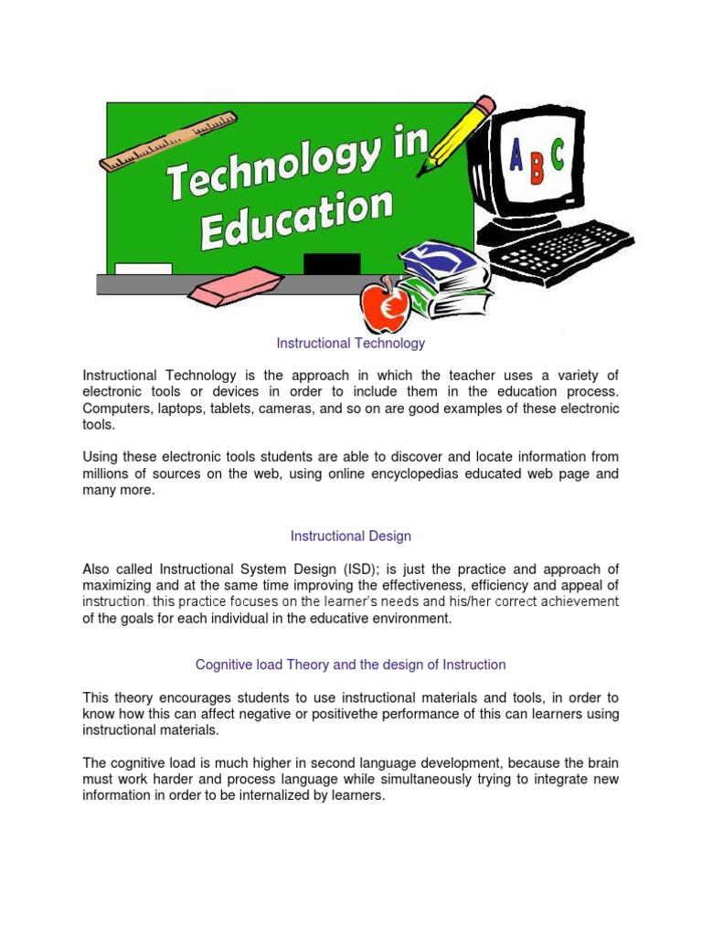 Instructional Technology Instructional Design Educational Technology