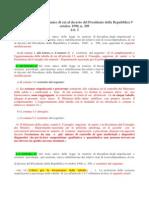 Modificazioni Al Testo Unico Di Cui Al Decreto Del Presidente Della Repubblica 9 Ottobre 1990 n. 309