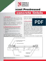 Making Precast Prestressed Concrete Lintels