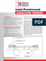 Making Precast Prestressed Concrete Lintels