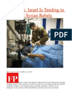 Exclusive Israel is Tending to Wounded Syrian Rebels