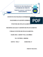 Fuentes de Financiamiento Unidad 5