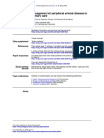 Management of Peripheral Arterial Disease