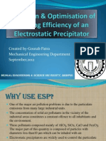 Prediction of Cleaning Efficiency of an Electrostatic Precipitator